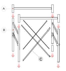 Schema composizione parapetto terminale per trabattello