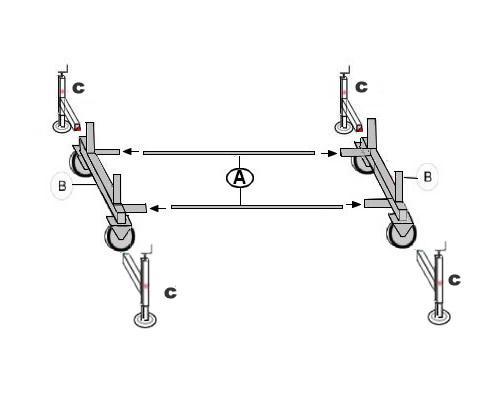Sche montaggio base trabattello Modello m5